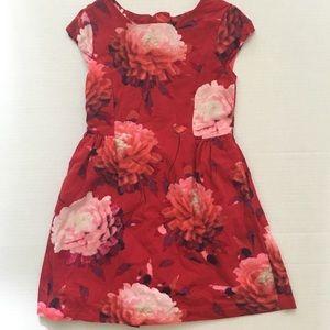 Gap Red Floral Dress